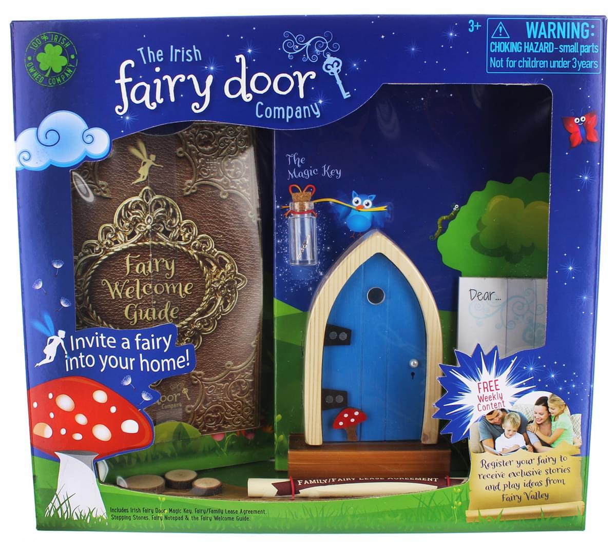 Irish fairy door playset blue door for Irish fairy door uk