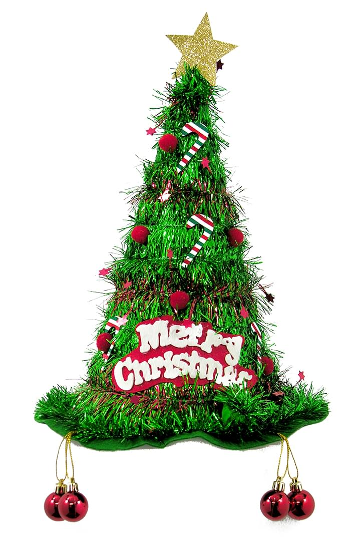 Christmas tree tinsel hat ebay How to decorate a christmas tree without tinsel